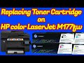 Replacing toner cartridge on HP color LaserJet Pro M177fw