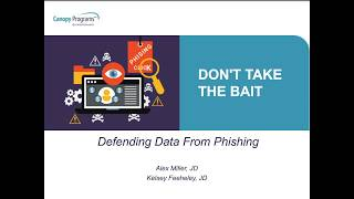 Don't Take the Bait: Defending Data From Phishing