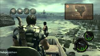 Resident Evil 5 Walkthrough - Part 6 - Chapter 3-1 - Marshlands - All Treasures & BSAA Emblems