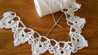 Repeat youtube video Orilla medias lunas tejido crochet