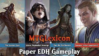 Commander/EDH Gameplay | S4E8.1 - Locust God VS Jeleva VS Zur VS Tawnos | Magic The Gathering
