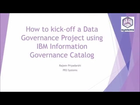 How to kick-off a Data Governance Project using IBM Informat