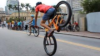 1º Encontro no Centro de São Paulo - SP (Bicicultura/Wheeling Bike)