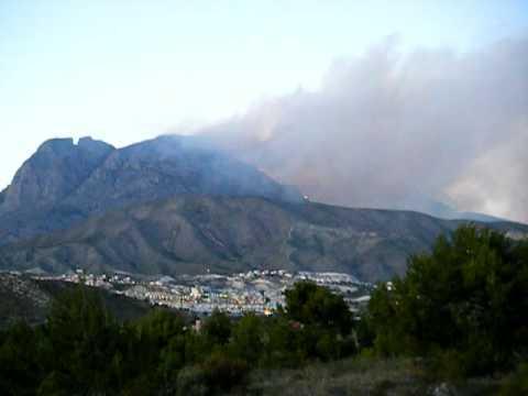 Benidorm La Nucia Spain Fires (Incendio)