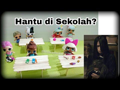 Hantu di Sekolah??  - DIY n LOL Surprise Dolls Story - Cerita Pendek Mainan Boneka Lucu