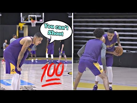 Lonzo Ball Plays Kyle Kuzma One on One - Reaction (Full Score)