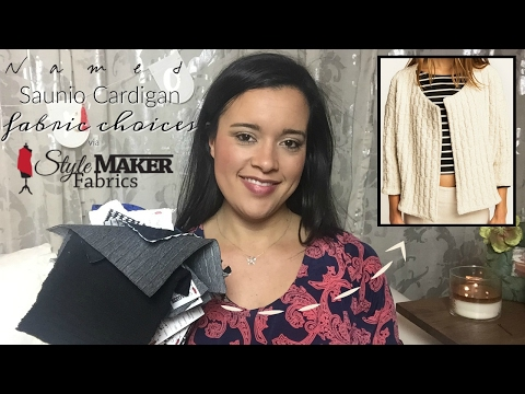 Named Clothing Saunio Cardigan Fabric Choices via Style Maker Fabrics  |  #sewmystyle