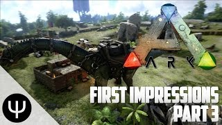 ARK: Survival Evolved — First Impressions — Part 3 — T-Rex Penning!