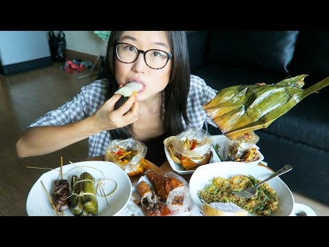 THAI STREET FOOD MUKBANG ● filmed in Bangkok at my loft