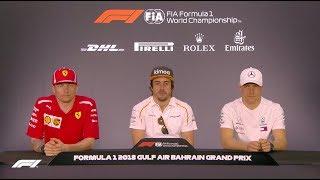 2018 Bahrain Grand Prix: Pre-Race Press Conference
