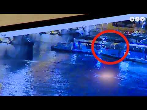 Budapest ship disaster 2019.05.29 - ship pushed and sunk under 7 sec