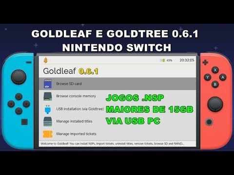 GOLDLEAF E GOLDTREE 0 6 1 - TRANSFERÊNCIA DE QUALQUER TAMANHO  NSP VIA USB  PC SWITCH
