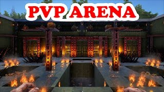 ARK Survival Evolved | Challenging PVP Arena | Build Showcase