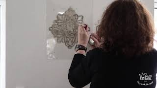 Vintage Paint | How to decorate a wall with stencils