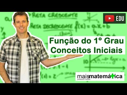 Função do Primeiro Grau (Função Afim): Conceitos Iniciais (Aula 1 de 9)