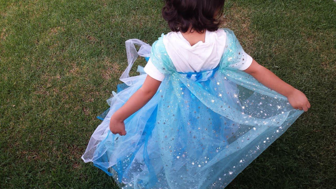 ccd502463d Vestido Tutú inspirado en Frozen - YouTube