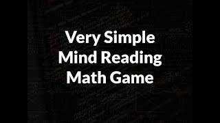 Mind Reading Math Game (18-)