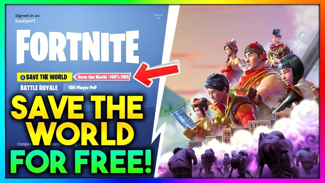 fortnite how to get save the world free pc