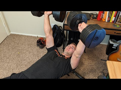 dumbbell-bench-press-in-home-office---how-to-build-a-bigger-&-stronger-chest---no-gym-|-gamerbody