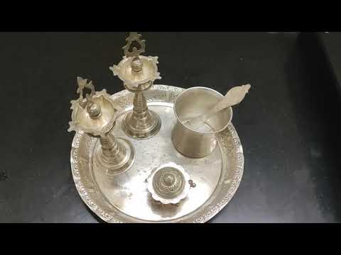 How to clean silver pooja items at home/silver vessels cleaning/silver items cleaning