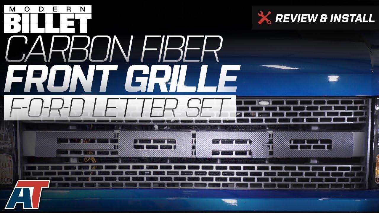 2010 2014 F150 Modern Billet Carbon Fiber Front Grille Ford Letter