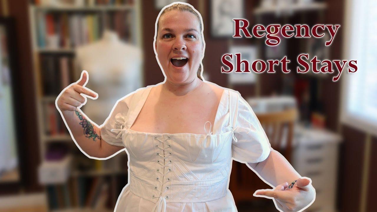 Sewing Regency Short Stays, Pt 2 || Corset-Making