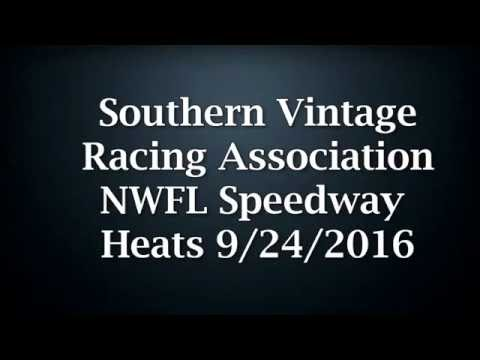 Southern Vintage Racing Association Heat Races 9.24.16 NWFL Speedway