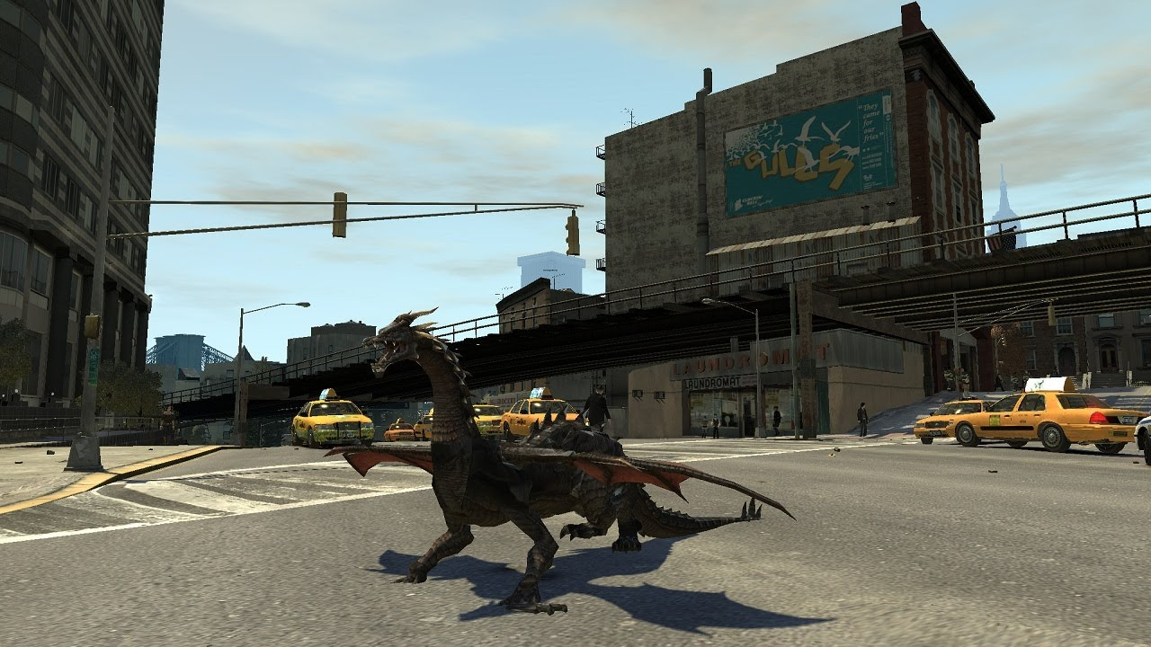 Grand Theft Auto IV - Dragon (MOD) HD - YouTube