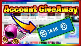 (ROBLOX)*Account Giveaway Winner Announcement*(144K ROBUX + MORE)