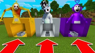 DO NOT CHOOSE THE WRONG MINECART IN Minecraft PE Tinky WInky, Laa Laa, Guardian Slendytubbies