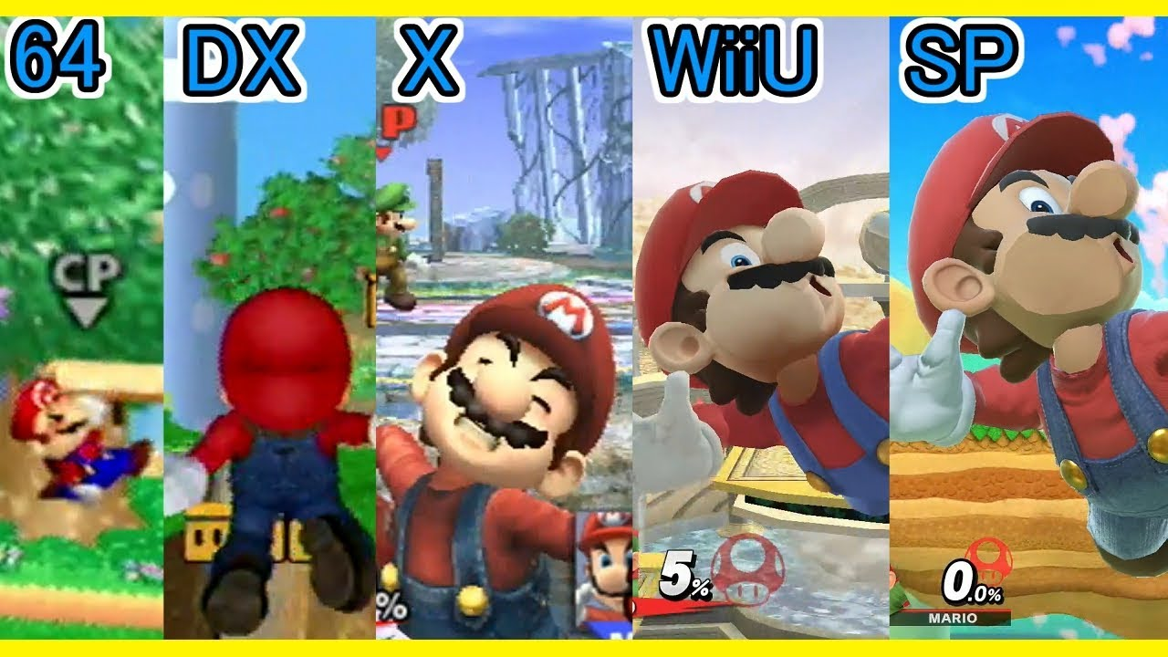 64 Dx X Wiiu Sp 歴代スマブラ 画面ko 全キャラ Dlc比較まとめ Screen Ko Super Smash Bros All Characters Youtube