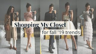 How I Shop My Closet for Fall 2019 Trends | Slow Fashion