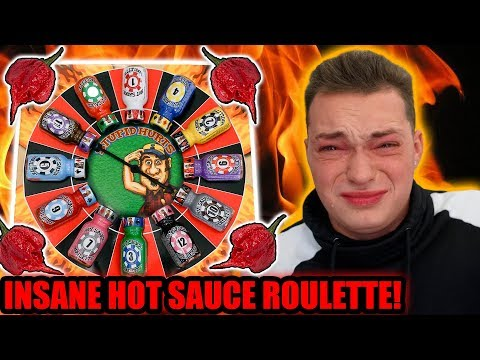 WORLDS HOTTEST HOT SAUCE ROULETTE CHALLENGE!