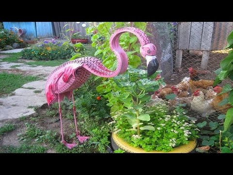 Creative garden craft decoration from recycled waste for Hand works with waste things
