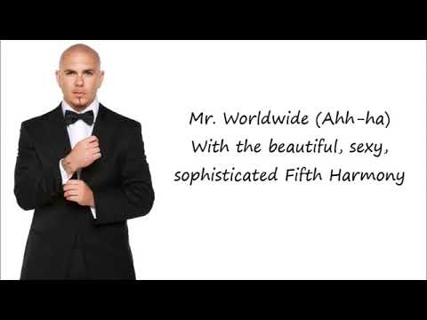 Pitbull - Por Favor Ft. Fifth Harmony (spanglish version) Lyrics+Pictures