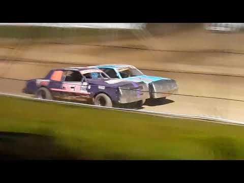 Rice Lake Speedway  Aug 31 Pure Stock Feature  part 2