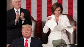 Nancy Pelosi rips apart Donald Trump's SOTU speech., From YouTubeVideos