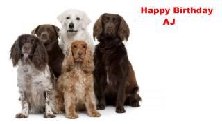 AJ   Dogs Perros - Happy Birthday