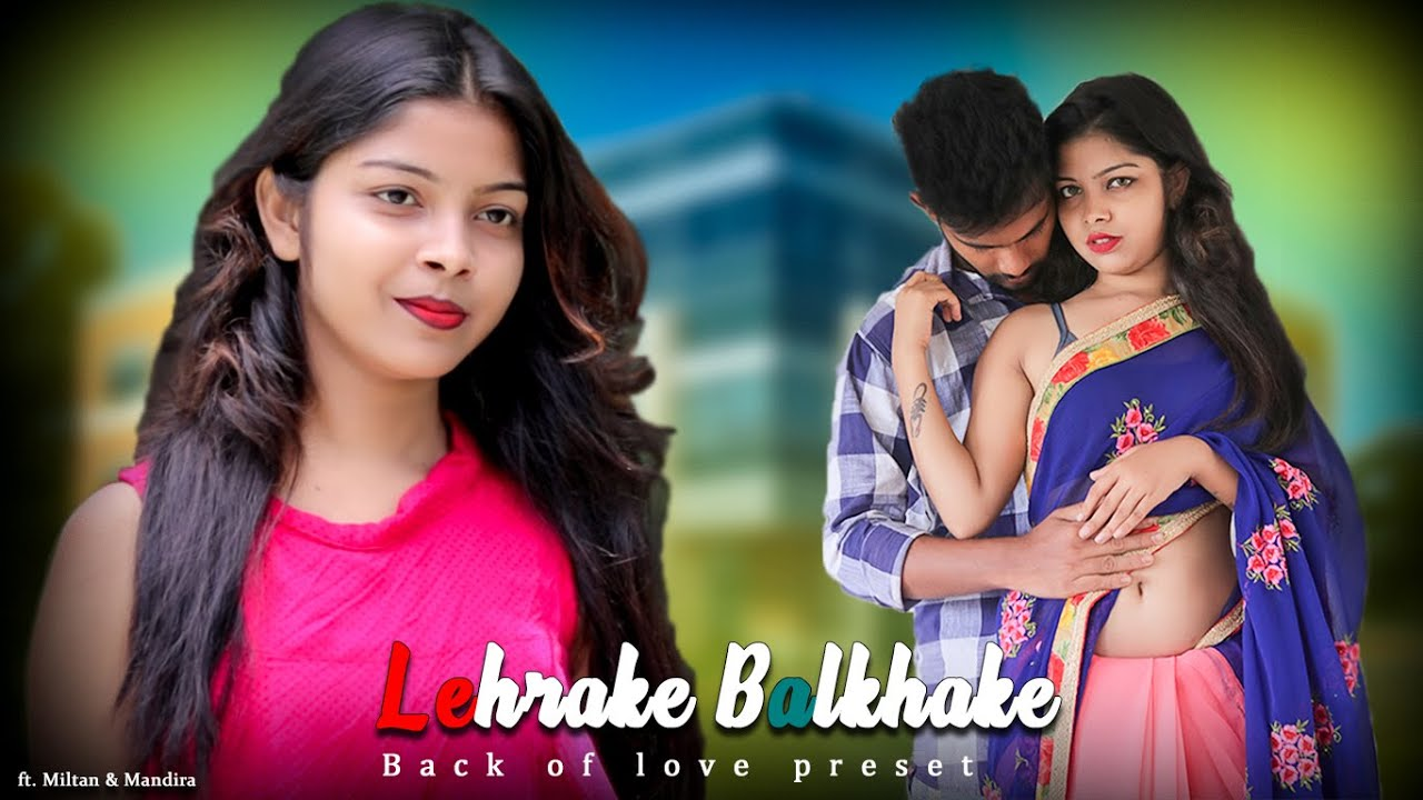 Lehrake Balkhake(Sharara Sharara)Remix || Cute Lovestory || Ft. Misti & Riju | Back Of Love