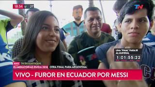 Furor en Ecuador por Messi