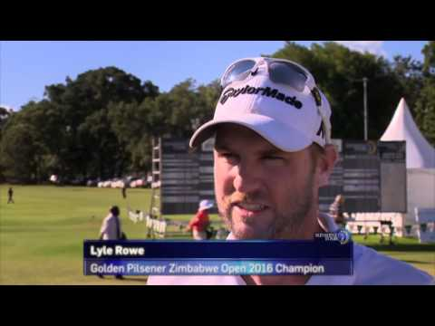 Lyle Rowe wins the Golden Pilsener Zimbabwe Open
