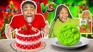 red-vs-green-food-challenge-vlogmas-day-4