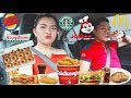 LETTING THE PERSON INFRONT OF US DECIDE WHAT WE EAT FOR 24 HOURS CHALLENGE