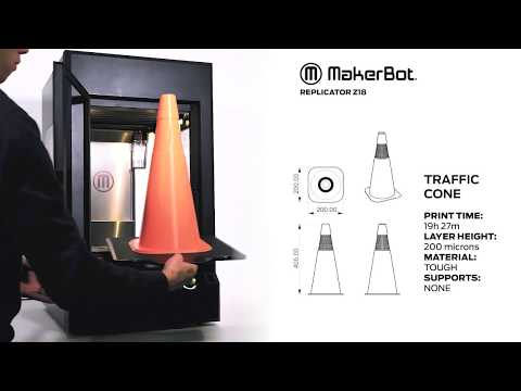 The MakerBot Z18 3D Printer Timelapse