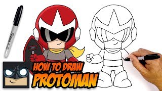 How to Draw Protoman | Step-by-Step Tutorial for Beginners