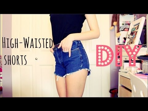 BEST Way to Cut Jeans into Shorts!!