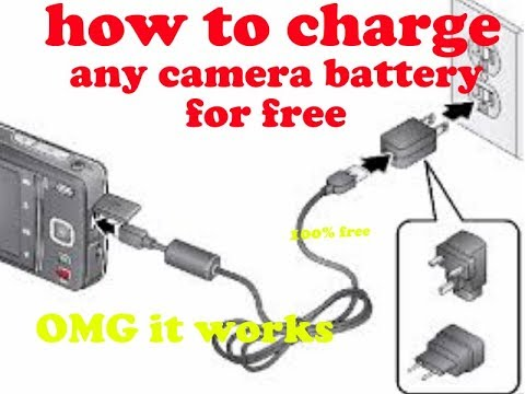 How To Charge Any Camera Battery Free Without Proper Charger