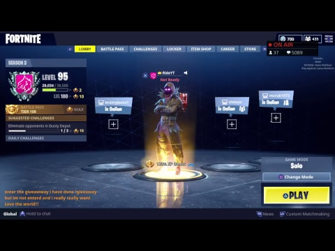 Save The World Code Giveaway Today! + 3k V bucks Free Giveaway | Fortnite PS4 PC Xbox XBOne