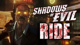 Black Ops 3 Zombies Info: SHADOWS OF EVIL OFFICIAL RIDE! (Six Flags Rollercoaster)