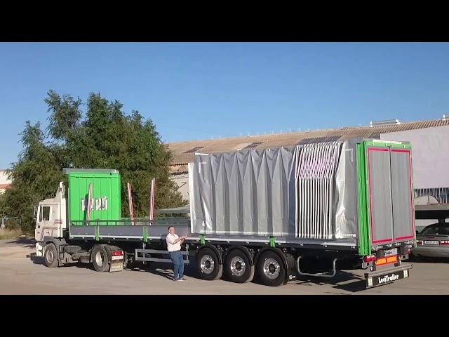 Transportes de Madera y Generales. Uso de plegadores 2